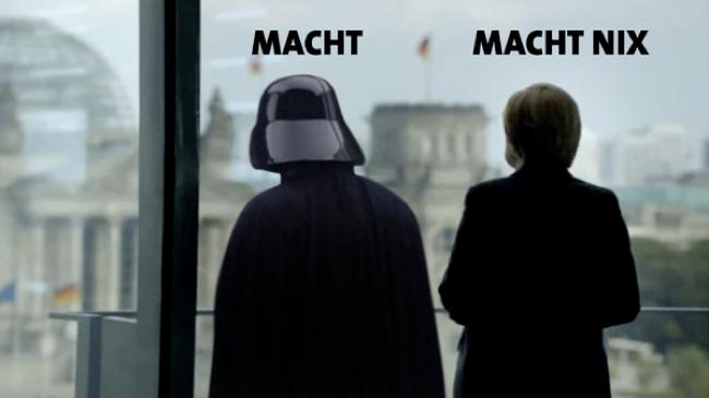 Merkel und Darth Vader