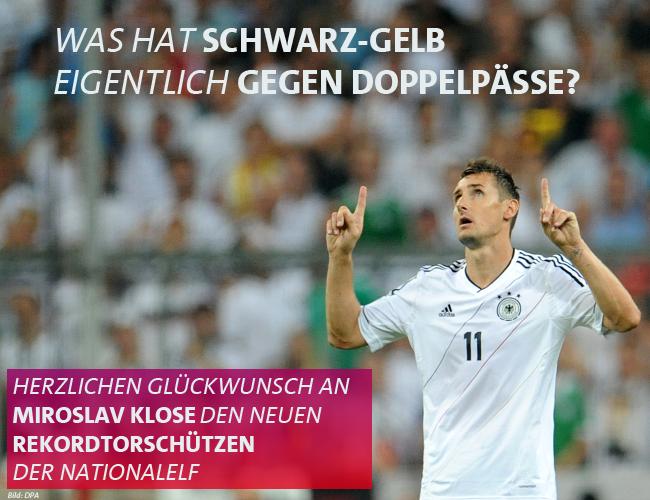 Doble nacionalidad Alemania SPD Klose futbol