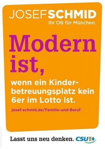 """""""Moderno es: cuando una plaza en el jardín de infantes no es una lotería."""""""