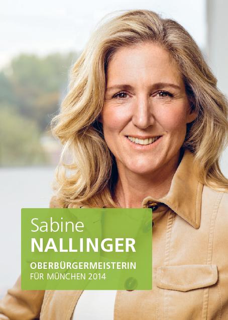 Sabine Nallinger. Candidata a Alcaldesa para München (Munich) 2014.