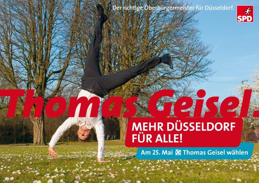 SPD-Plakat Düsseldorf Thomas Geisel