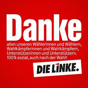 Agradecimiento de Die Linke (La Izquierda) luego de las elecciones federales de 2013