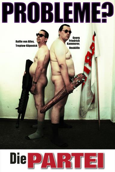 """Federales 2013: """"¿Problemas?"""". En referencia a los neonazis del sureste de Berlin."""