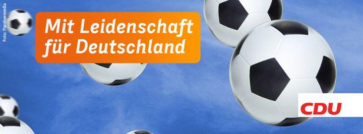 """Con pasión por Alemania"". De la Unión Demócrata-Cristiana (CDU)."