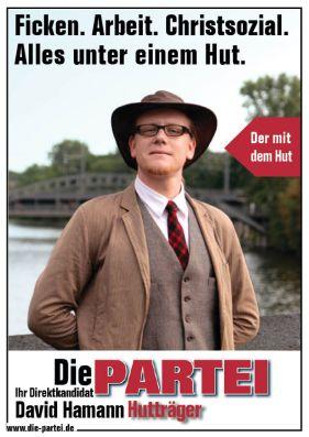 """Berlin 2011: """"Fornicar. Trabajo. Social-Cristiano. Todo debajo de un sombrero."""""""
