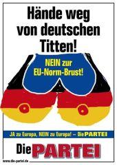 """Europeas 2014: """"¡Manos fuera de las tetas alemanas!"""""""
