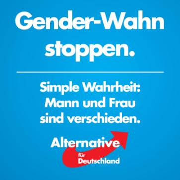 """""""Detener la locura del tema de género. Una simple realidad: Hombre y mujero son distintos."""""""