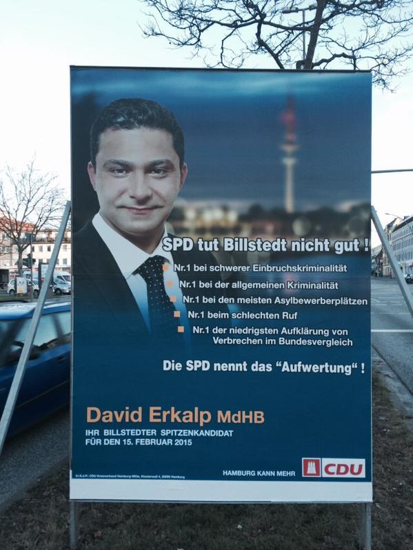 CDU-Refugiados afiches hamburg campaña electoral