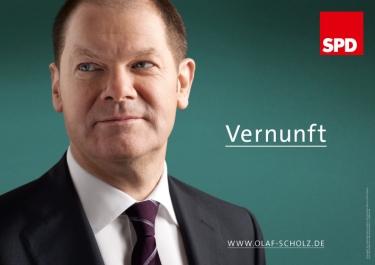 """""""Sensatez"""". Afiche electoral para las regionales de 2011 en Hamburg. Quelle: butter.de"""