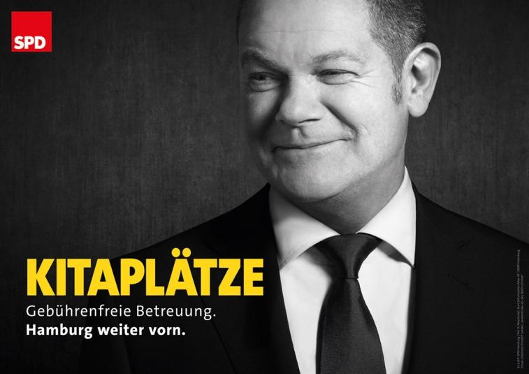 """""""Vacantes en las guarderías"""". Fuente: SPD Hamburg."""