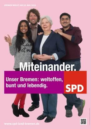 """""""Juntos. Nuestra Bremen: cosmopolita, variada y viva."""""""