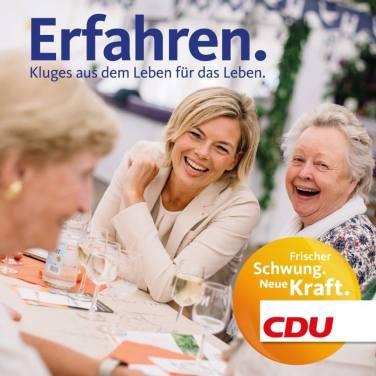 """""""Conocer. Lo inteligente de la vida para la vida."""" Fuente: Fan Page Facebook CDU Rheiland-Pfalz."""
