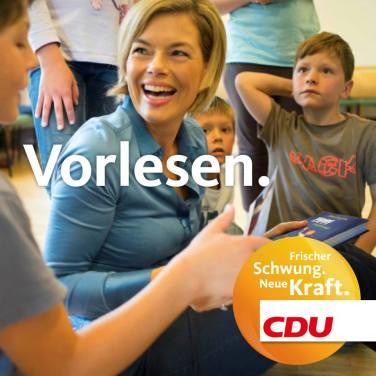 """""""Leer"""" (en voz alta). Fuente: Fan Page Facebook CDU Rheiland-Pfalz."""