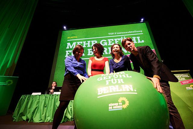 Cuatro candidatos cabeza de lista en Berlin.