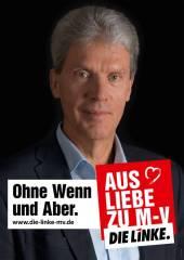 """Die Linke: """"Sin peros ni condiciones. Por amor a Mecklenburg-Vorpommern"""" Fuente: originalsozial.de"""