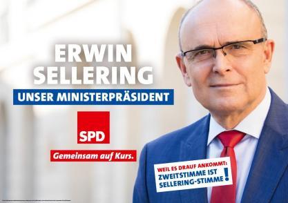 """SPD: """"Erwin Sellering. Nuestro gobernador. Juntos en marcha."""" Fuente: Fan Page SPD MV"""