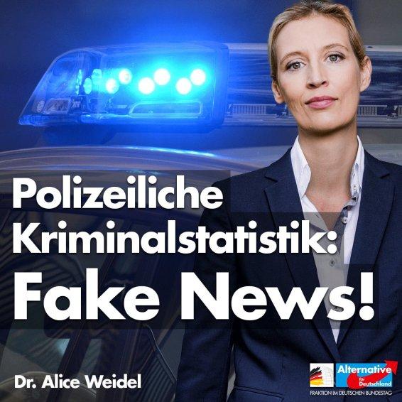 Traducción: Estadística de actividad delictiva de la policía: ¡Fake news!