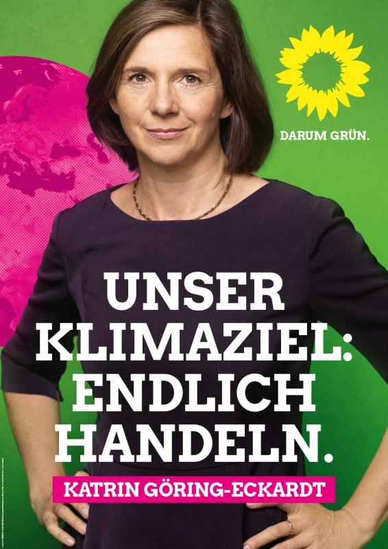 """""""Nuestro objetivo climático: actuar de una vez. Katrin Göring-Eckardt."""""""
