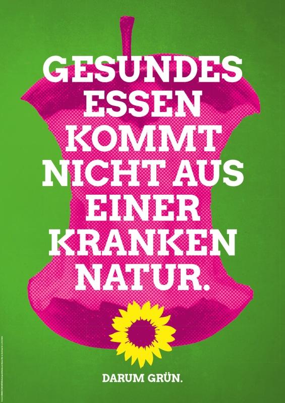 """""""La comida sana no viene de una naturaleza enferma. Por eso verde."""""""