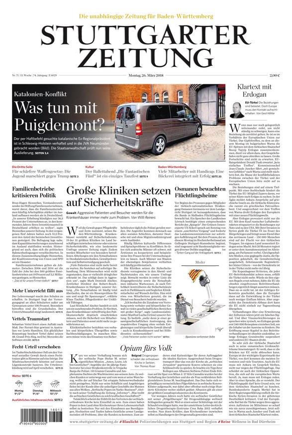 Stuttgarter Zeitung- 26.3.2018