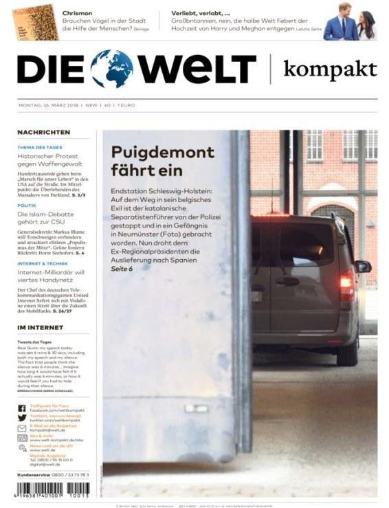 Die Welt Kompakt - 26.3.2018