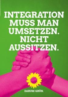 """""""La integración se debe implementar. No dejar que suceda. Por eso verde."""""""